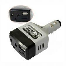 Инвертор автомобильный (преобразователь тока) с 12 на 220v+USB (5W) в прикуриватель Купить