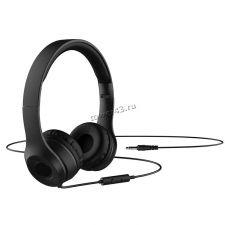 Наушники HOCO W21 Graceful Charm черные, кабель 1,2м, кнопка управления, кнопка микрофона Купить