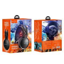 Наушники+Микрофон HOCO W100 Touring игровые, кабель 2.4м, подсветка Цена