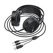 Наушники+Микрофон HOCO W100 Touring игровые, кабель 2.4м, подсветка Цены