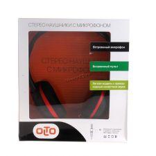 Наушники+микрофон OLTO VS-10 шнур 1м, рег.грмкости, черно-красный Цена