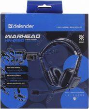 Наушники+микрофон Defender Warhead HN-G150 игровые 2.1м c регулятором громкости Цена