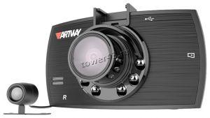 """Автомобильный видеорегистратор Artway AV-520, 1440*1080, 1.3Мрх, 2камеры, 120гр, IK подсветка, 2.4"""" Купить"""