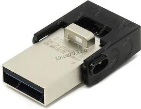 Переносной носитель 32Gb FLASH USB 2.0 (с двумя разъемами USB и microUSB, mini) Купить