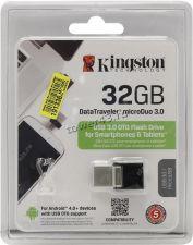 Переносной носитель 32Gb FLASH USB 2.0 (с двумя разъемами USB и microUSB, mini) Цена