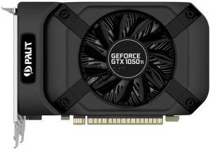 Видеокарта GeForce 1050GTX Ti 4Gb <PCI-E> Palit StormX 128bit DDR5 1085/5500 HDMI, DVI Retail Цена