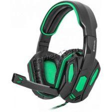 Наушники+микрофон Defender Warhead G-275 зелено-черные, кабель 1,8 м, игровые, регулятор громкости Купить