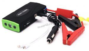 Портативный стартер для автомобиля 12В, 2xUSB, фонарик, зарядка для microSD/iPhone, пластиковый бокс Купить