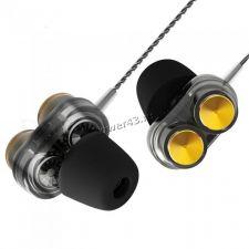Наушники+микрофон QKZ KD7 /Hantoper вкладыши, 96dB,16Ом, 20-20000Гц, шнур1м, рег.гр, двойной динамик Цена