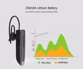 Беспроводная моно Bluetooth гарнитура NewBee LC-B41, до 24/500часов, ВТ5.0, русская озвучка Купить