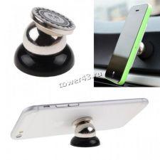 Автомобильный держатель универсальный магнитный черный для телефона на панель Купить