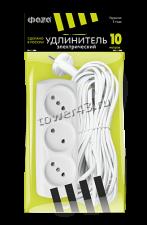 Сетевой фильтр 10м 3розетки ФАZA макс. ток 10А/6А (без заземления и выключателя) Купить