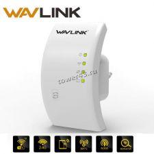 Репиттер (усилитель) Wi-Fi сигнала Wavlink WPS, индикация, RJ45, режимы репитера и т.доступа, до300м Купить