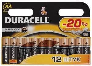 Батарейка AA алкалиновая Duracell Basic Цена