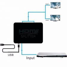 Разветвитель (сплиттер) HDMI сигнала с усилителем 1xHDMI -> 2xHDMI (цвет в ассортименте) Купить