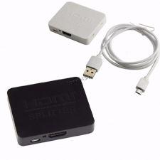 Разветвитель (сплиттер) HDMI сигнала с усилителем 1xHDMI -> 2xHDMI Цены