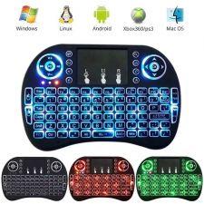 Клавиатура-пульт i8 для Android TV устройств беспроводная, блютуз, до10м, с тачпадом, подсветка, акб Купить