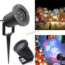 Лазерный голографический проектор LED Snowflake Projection Lamp HT-766 Цена