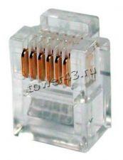 Разъем RJ-12 для телефонного кабеля 6P4C /6P6C Купить