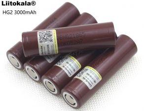 Аккумулятор 18650 Liitokala HG2 без защиты 3.7V, 2900-3000mAh 65.0х18.2мм высокоамперные, для вейпов Купить