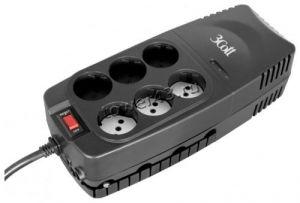 Стабилизатор напряжения 3COTT 1000VA-AVR 500Вт, 6розеток: 3*AVR + 3*Surge Protector, RJ-11/RJ-45 Купить