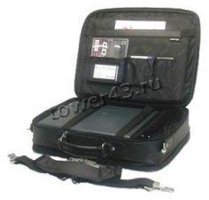 """Сумка для ноутбука 15.6"""" PortCase KCB-03L натуральная кожа, black Купить"""