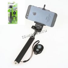 Монопод (палка) для селфи К-09 /ELTRONIC Z07-1 с Bluetooth пультом черный Купить