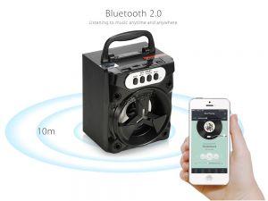 Мобильная колонка-плеер MS-235BT Bluetooth /USB /FM /подсветка /microSD (уценка - трещина) Сколько стоит