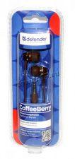Наушники Defender CoffeeBerry /Tokira коричневые, вкладыши Цена