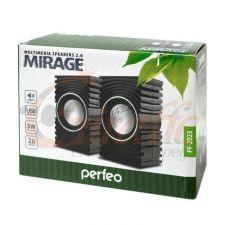 Колонки Perfeo Mirage PF-2023 черные USB 6W Цена