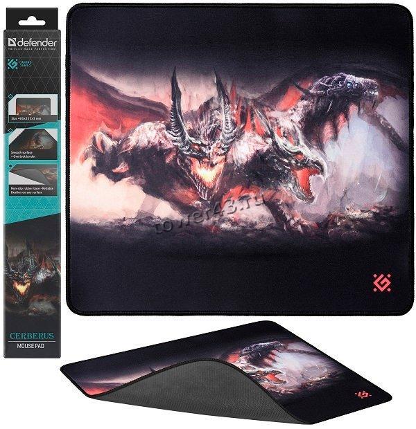 Коврик для мыши Defender игровой XXL Speed 400x355x3 мм, ткань+резина (в ассортименте)