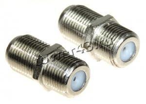 Переходник коаксиального кабеля F гнездо - F гнездо металл Купить