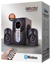 Колонки GINZZU GM-405, 40W=20W+2x10W /блютуз /USB/SD /FM-радио /пульт ДУ Цены
