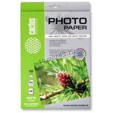 Фотобумага самоклеющаяся Cactus CS-MSA410020 матовая А4 100 г/м2 20 листов Купить
