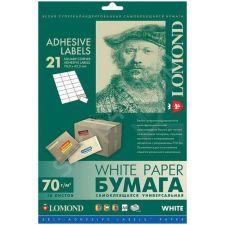 Бумага самоклеящаяся Lomond 14 частей 105х42,3 (50л., A4) Купить