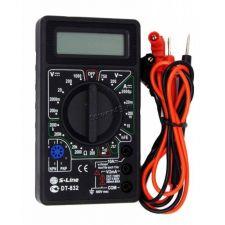 Мультиметр DT832 S-LINE (тест диодов, транзисторов, измерение тока, напряжения, сопротивления) Купить