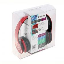 Наушники+микрофон полноразмерные Bluetooth Defender FreeMotion B703, красные, до 10м Цены