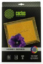 Бумага Фотобумага CACTUS (250гр, A4, 10л., золотое покрытие) для струйной печати Купить