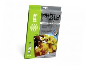 Бумага Фотобумага CACTUS Photo Paper (100гр, 100л., одност., A4, матовая) Купить