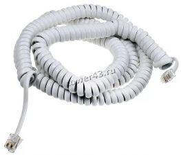 Кабель телефонный витой для телефонной трубки 3м (белый) Купить