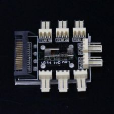 Разветвитель для подключения вентиляторов в корпусе ПК 1хSATA -> 8х3pin, 2 скорости, с выключателем Купить