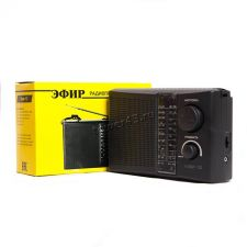 Радиоприемник ЭФИР 15, УКВ 64-108МГц, СВ 530-1600КГц, КВ1, КВ2 (бат. 2хR20 не входят в компл., 220V) Купить