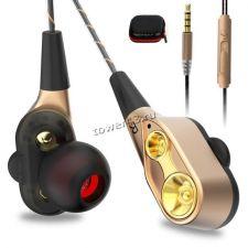 Наушники+микрофон AIPAL V3/EJ-V1 PLUS вкладыши в футляре, двойной динамик Купить