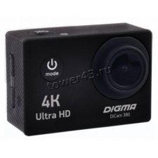 Экшн-видеокамера DIGMA DiCam 380 4K 3840х2160 30кадров/сек, 160°, HDMI, USB, крепежи, бокс Купить
