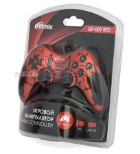 Геймпад Ritmix GP-007 вибро USB 2.0 ПК (Dinput и Xinput) (красно-черный /сине-черный) Цена