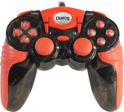 Геймпад Dialog Action GP-A15, вибрация, 12 кнопок, черно-красный, прорезиненная часть Купить