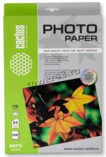 Бумага Фотобумага PERFEO/CACTUS Photo Paper (170гр, 100л., одност., A4, матовая) Купить