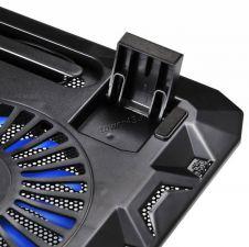 """Подставка под ноутбук охлаждающая Buro BU-LCP156-B214 с LED подсветкой 15,6"""", 2*Fan 14cm Цена"""