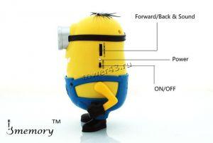 Мобильная колонка-плеер Крошка Дэйв USB /Micro SD +FM (модели  ) Купить