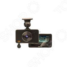 """Автомобильный видеорегистратор LEXAND LR85 DUAL, 3"""", 1920х1080х30к/с, 6сл.линз Sony,140гр, АКБ300mAh Купить"""